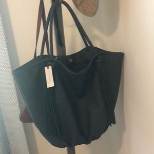 Anthropologie Morgan Tassled Tote Bag.